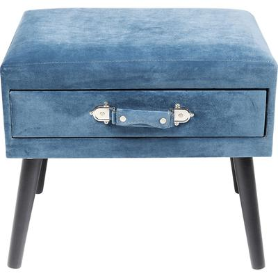 Escabel Drawer azul
