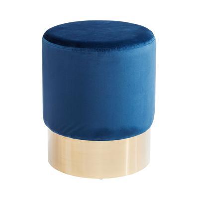 Taburete Cherry azul latón Ø35cm
