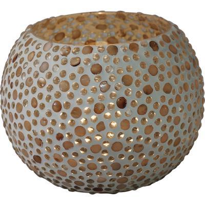 Portavelas Pearls redondo