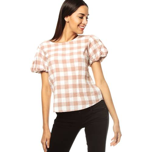 Camisa Color Siete Para Mujer - Beige