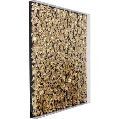 Cuadro Leaf oro 120x120cm