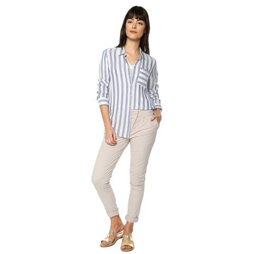 Camisa Madeline Color Siete Para Mujer  - Azul