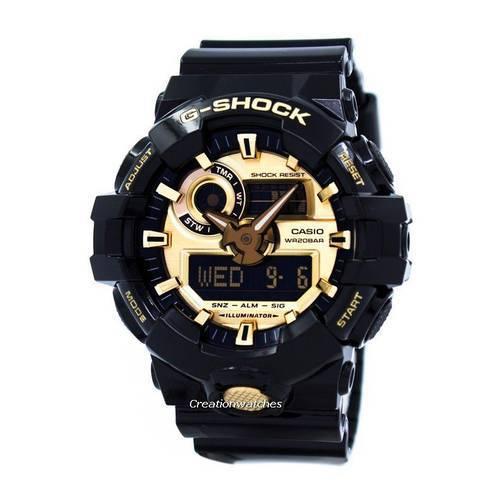 Reloj g-shock anadigi dorado-negro -1AD