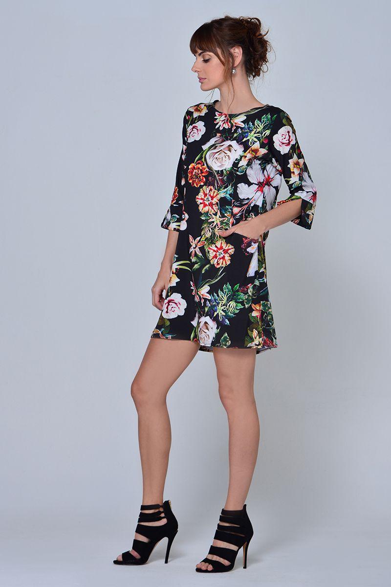 85d4d8793 VESTIDO ESTAMPADO FLORES - Spírito Tienda online - Moda femenina