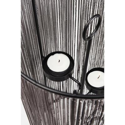 Portavelas Chain negro 4 36cm