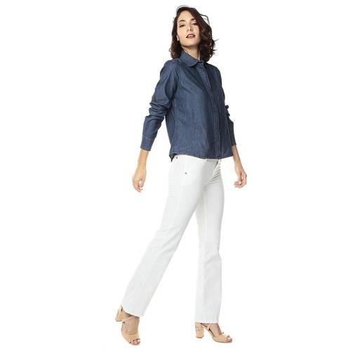 Pantalon Para Mujer Color Siete - Blanco