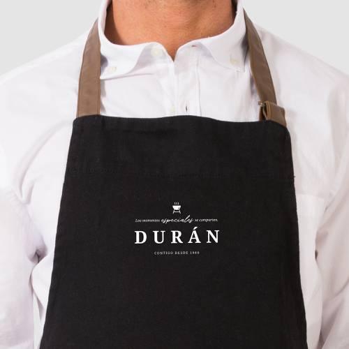 Delantal Color Siete Durán - Negro