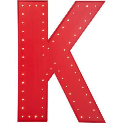 Objeto luminoso K rojo LED 169cm