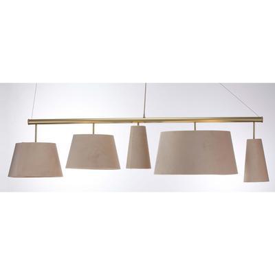 Lámpara Parecchi crema latón 100cm