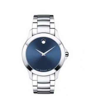 Reloj análogo azul-plateado 0423