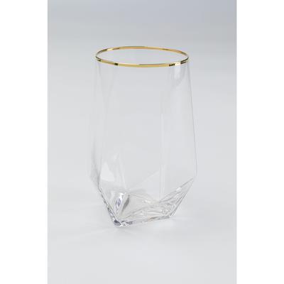 Vaso agua Diamond oro Rim