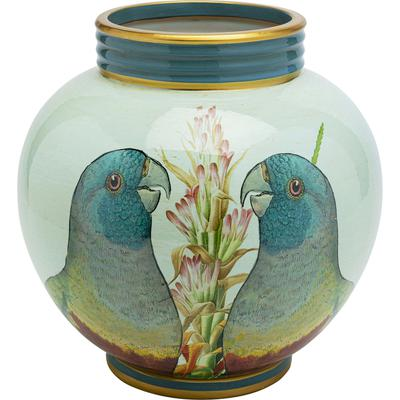 Vasija decorativa Parrot Couple 26cm