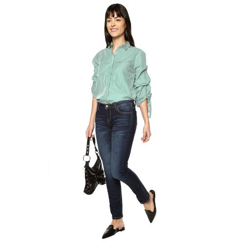 Camisa Sara Color Siete Para Mujer  - Verde