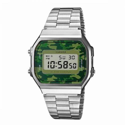 Reloj digital verde camuflado-plateado EC-3