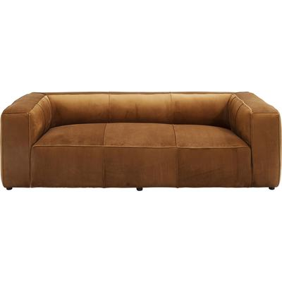 Sofá Cubetto Velvet 2,5 pl  marrón