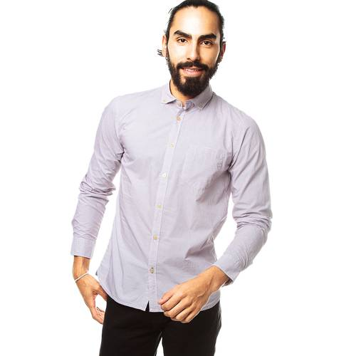 Camisa Manga Larga Murray Color Siete Para Hombre - Rosa