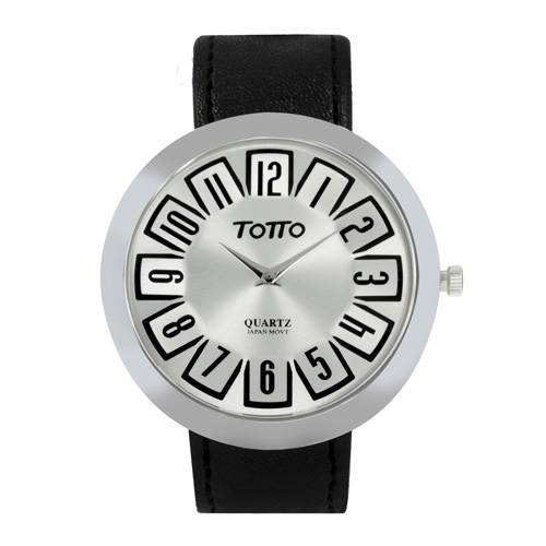 Reloj análogo plateado-negro 07-4