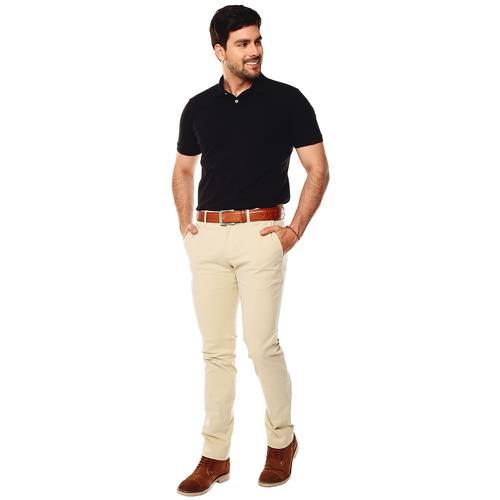 Pantalón Chelsea Color Siete Para Hombre  - Stone