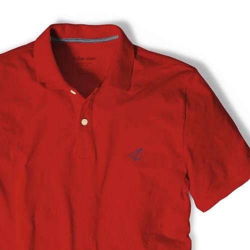 Polo Color Siete Para Hombre Rojo - Avion de Papel