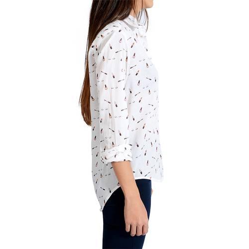Camisa estampada manga larga para Mujer