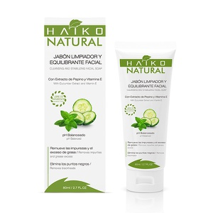 Jabón Limpiador y Equilibrante Facial en Gel Haiko Natural 80ml