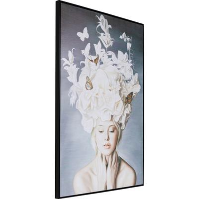Cuadro Art Lady White Flowers 120x80cm