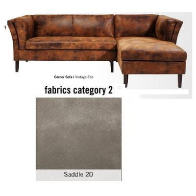 Sofá esquinero, Canapee, tela 2 - Saddle 20 (243x76x151cms)