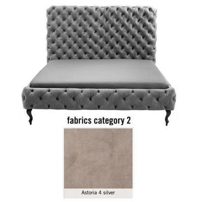 Cama (Alta) Desire, tela 2 - Astoria 4 silver, (135x197x228cms), 180x200cm (no incluye colchón)