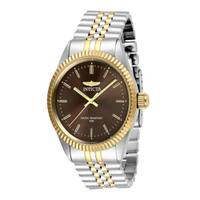 Reloj quartz marrón-acero dorado 9381