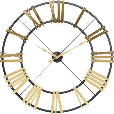 Reloj pared Nevio latón Ø95cm