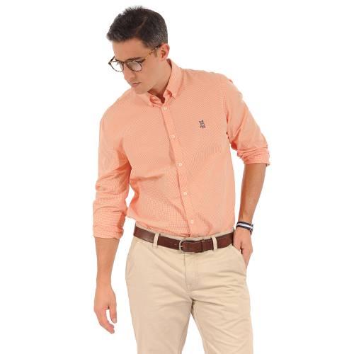 Camisa Manga Larga Springs Jack Supplies Para Hombre - Naranja