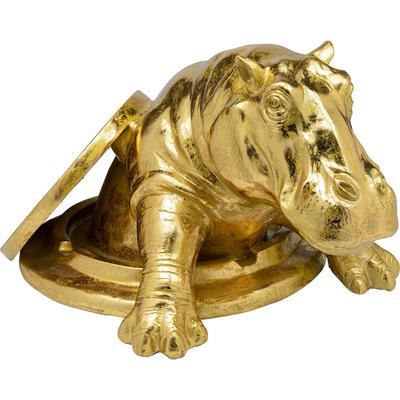 Objeto decorativo Struggling Rhino oro