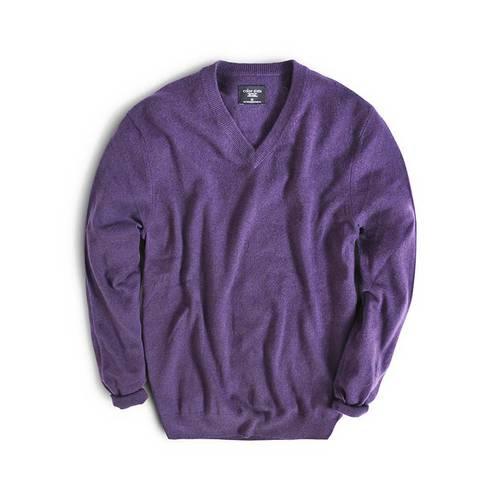 Sueter Color Siete para Hombre 100% Cashmere - Violeta