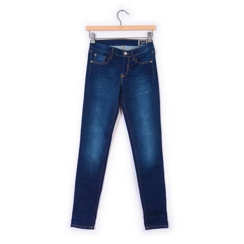 Jean Skinny Color Siete para Mujer - Azul
