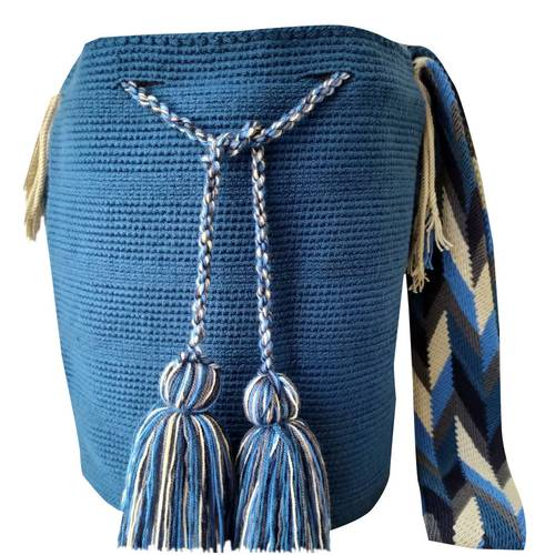 Mochila - Azul Claro Con Gasa Estilo Kuliichiya