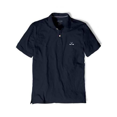 Polo Color Siete Para Hombre Azul - Golf