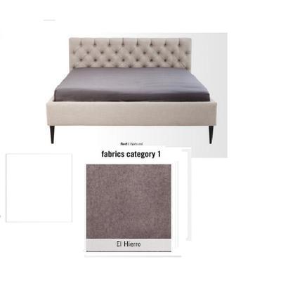 Cama Nova, tela 1 - El Hierro,   (85x220x215cms), 180x200cm (no incluye colchón)