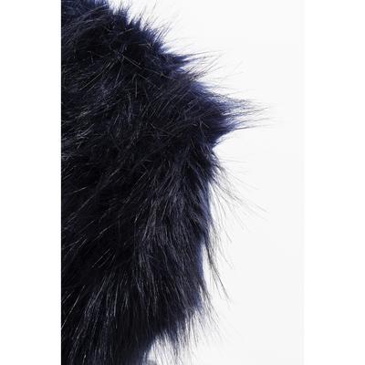 Taburete Ontario Fur azul oscuro Ø30cm