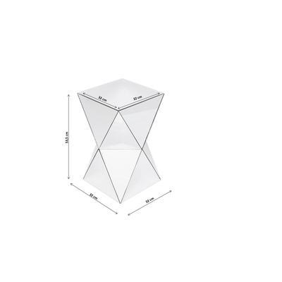 Mesa auxiliar Luxury Triangle gris 32x32cm
