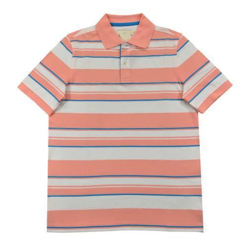 Camiseta Polo Nal Rayas Pique 540-89 Rosado