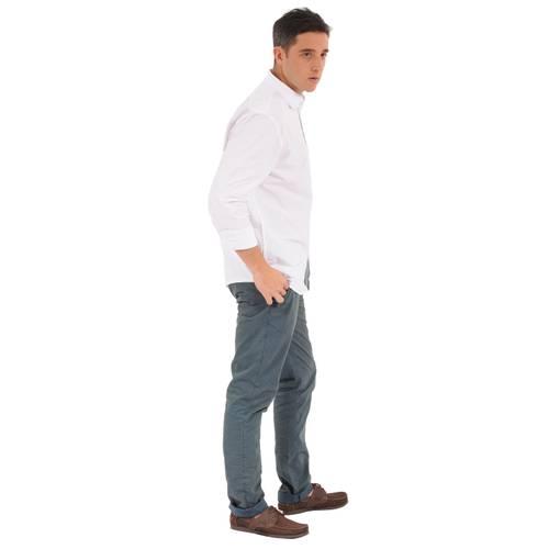 Camisa Manga Larga Miller Jack Supplies para Hombre- Blanco