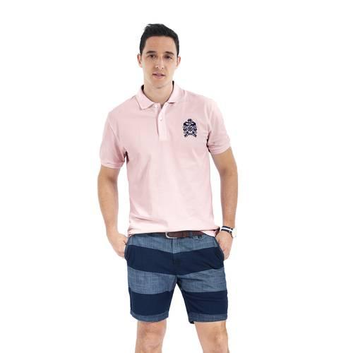 Polo Color Siete para Hombre Rosa - Pardo
