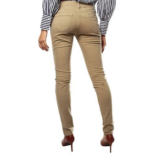 Pantalon Color Siete para Mujer-Beige