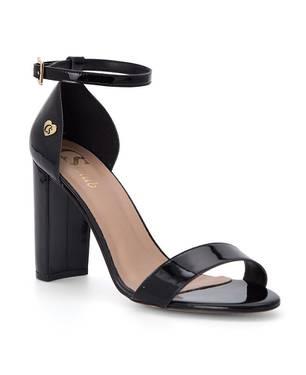 Sandalias con Metal Personalizado Negro