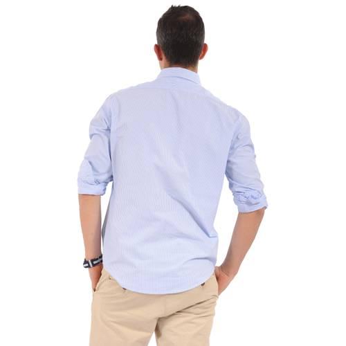 Camisa Manga Larga Wainscott Jack Supplies para Hombre- Azul