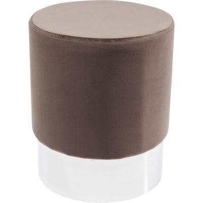 Taburete Cherry marrón plata Ø35cm
