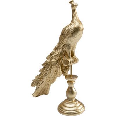 Figura deco Peacock oro 39cm