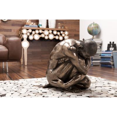 Figura decorativa Nude Man Hug bronce 54cm