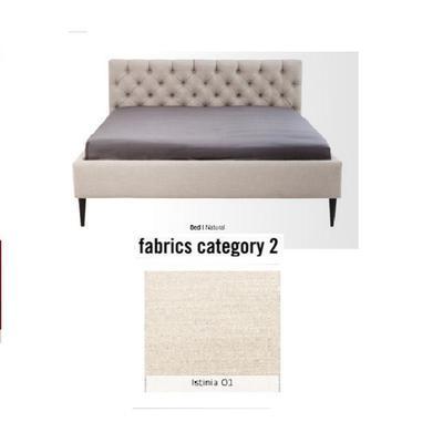 Cama Nova,  tela 2 - Istinia 01,   (85x180x215cms), 160x200cm (no incluye colchón)