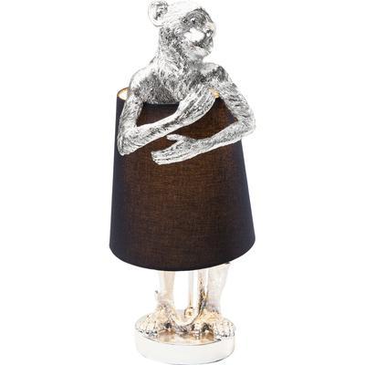 Lámpara mesa Animal Monkey plata negro